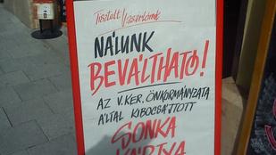 Magyarország szimbóluma: a Váci utcai CBA-reklám