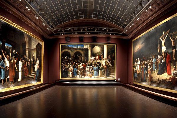 A Munkácsy-trilógia együtt, a Déri Múzeumban