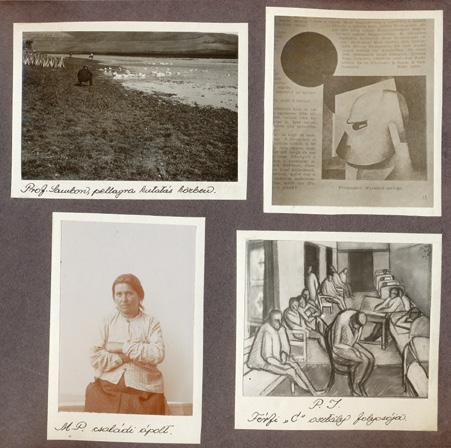 Az Angyalföldi Elme- és Ideggyógyintézet Múzeum albumának egy lapja