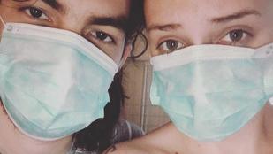 Tóth Gabi orvosi maszkban retteg, hogy pasija megfertőzi