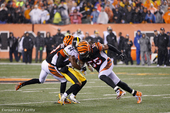A Steelers-elkapó Antonio Brown az idei rájátszásban szenvedett komolyabb agyrázkódást