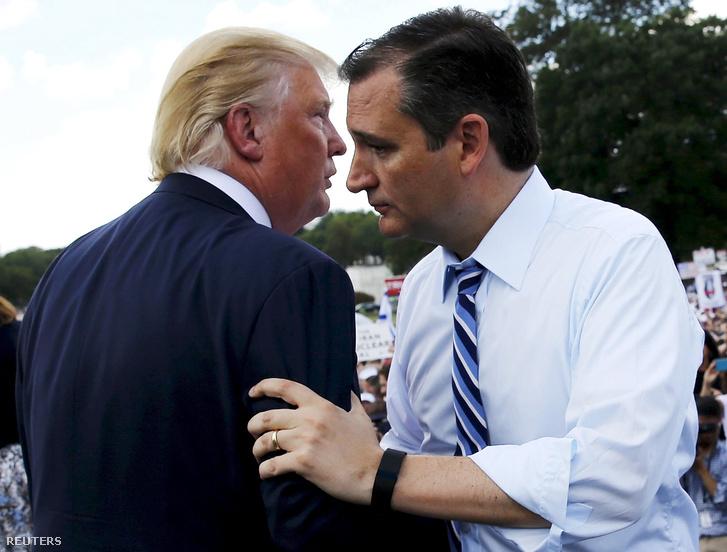 Cruz és Trump tavaly egy Tea party gyűlésen