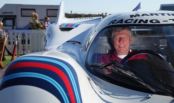 Gijs van Lennep az 1971-es Le Mans-i 24 óráson győztes Porsche 917-ben