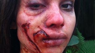 Lenny Kravitz lányát sokkolóra sminkelték