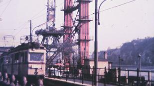 Az épülő Erzsébet híd és a Hilton, soha nem látott fotókon