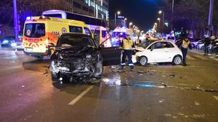 Két baleset is történt szombat este a XIII. kerületben