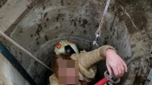 Nyolc méter mély kútba esett egy nő Ráckeresztúron