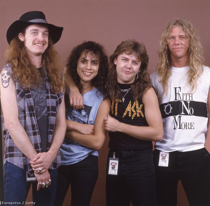 Cliff Burton, Kirk Hammett, Lars Ulrich, James Hetfield