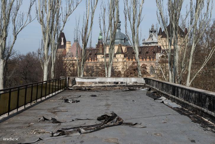 Kilátás az egyik bontásra ítélt ligeti épület tetejéről