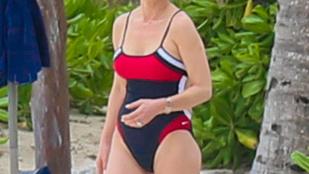 Ilyet se nagyon látni: Catherine Zeta-Jones fürdőruciban!