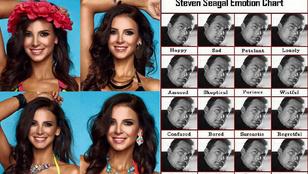 Sarka Kata Steven Seagalként reklámoz bikinit