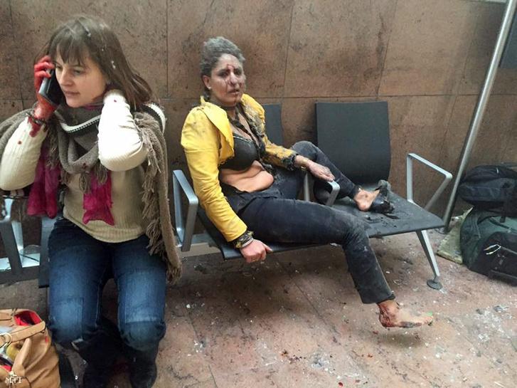 Sokkos áldozat a brüsszeli repülőtéren a március 22-i robbantást követően