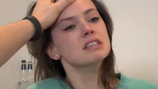 Daisy Ridley úgy sírt már a Star Wars meghallgatásán is, hogy öröm nézni