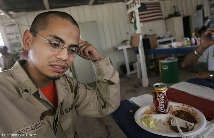 Jesus Bocanegra, amerikai veterán a Texas állami Veterán Központban 2006-ban. Bocanegránál, miután 2003-2004 között Irakban szolgált, poszttraumatikus stressz szindrómát diagnosztizáltak.