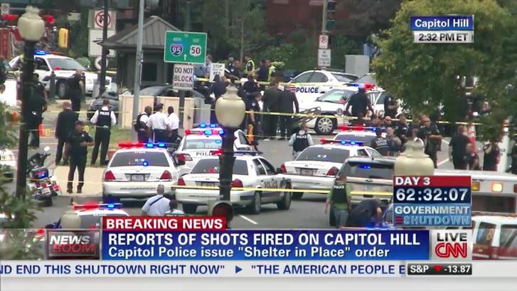 A CNN tudósítása 2013-ból a Kapitóliumnál történt lövöldözésről.