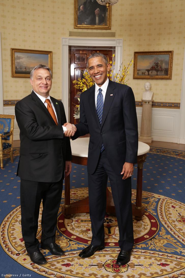 Orbán Viktor és Barack Obama Washingtonban 2016. március 31-én