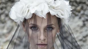 Hűha! Iszak Eszter menyasszonyi ruhában
