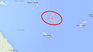 Cunamiriadó: hatalmas erejű földrengés Vanuatu szigetén