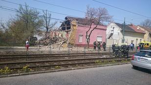 Ennek a csepeli háznak eltűnt a fele