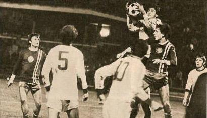 Tóth Zoltán Dózsa-Ferencváros mérkőzésen a Népstadionban, 1977-ben