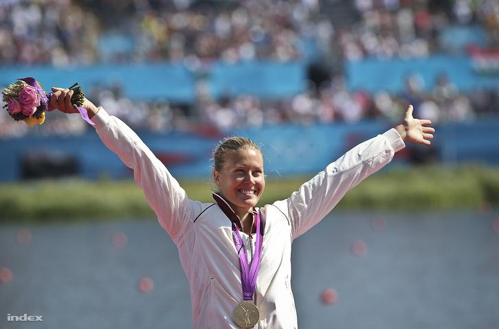 Olimpiai arany Londonban, a női kajak egyes 500 méteres számában