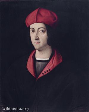 Bartolomeo Veneto festménye Estei Hippolitról