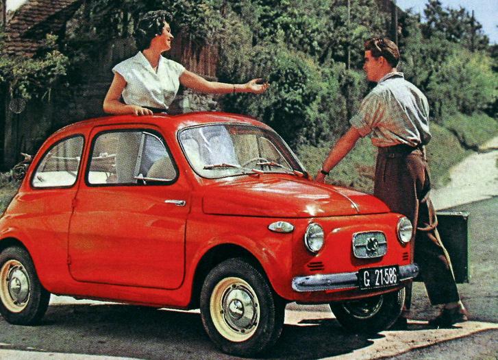 Ez nem Fiat! A Steyr-Puch ősverziója, 1957 októberéből. A Fiat addigra már fél éve árulta a saját 500-asát