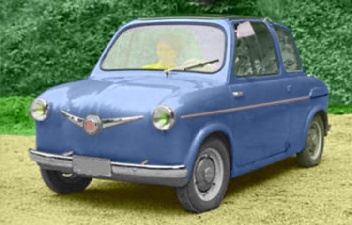 Az utolsó, 1956-os verzión olyan domború lökhárító van, mint az 1968-ig gyártott Puchokon - ezeknek teljesen más a profiljuk,mint a Fiat 500-asokéi