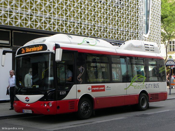 Bécsben Rampini elektromos buszok járnak