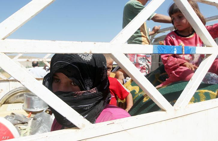 Szindzsárból menekülő jazidik