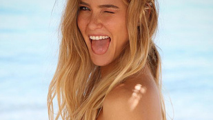 Bar Refaeli várandósan is meggyőző bikinimodell