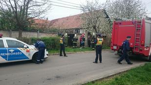 Megégett holttestet találták egy aszódi házban