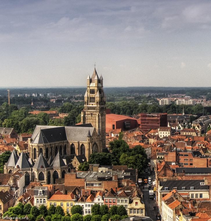A Szent Megváltó-katedrális Bruggeben, ahol Clemens non Papa dolgozott