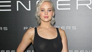 Jennifer Lawrence melltartó nélkül promózta filmjét