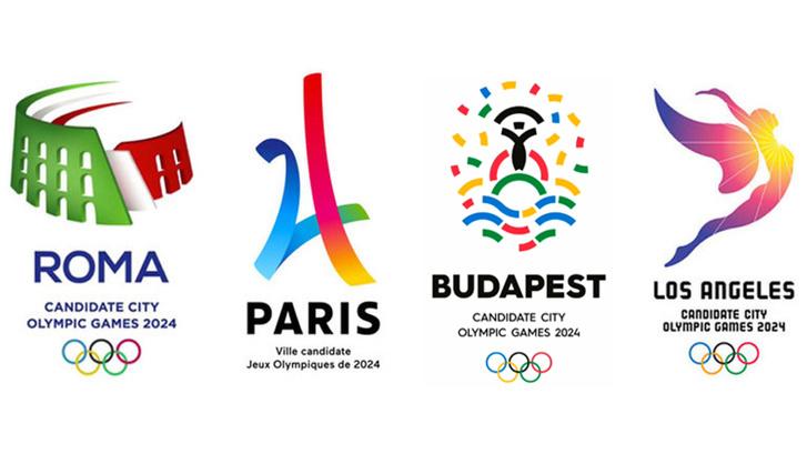 A Sky Sportson és a Facebookon megjelent képek alapján a jelölt városok pályázati logói.