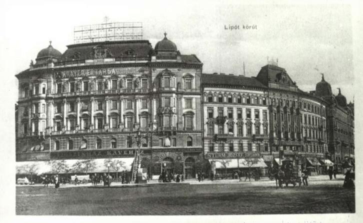 A Vígszínház kávéház a Lipót körúton
