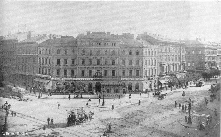 Az Abbazia kávéház 1900 körül