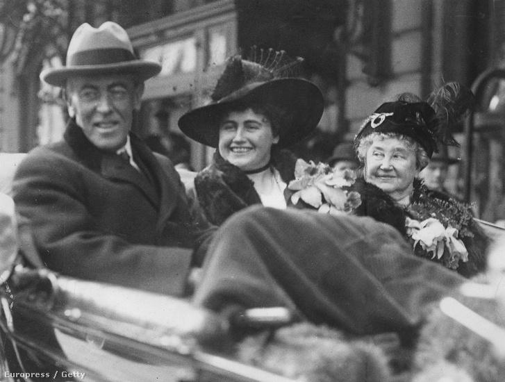 Woodrow és Edith Wilson.