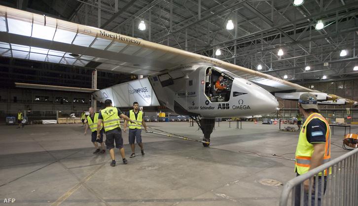 A Solar Impulse 2 Hawaiin, 2016. április 9-én