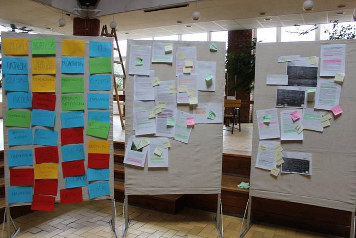 Brainstorming a Tanközlöny készítésének workshopján