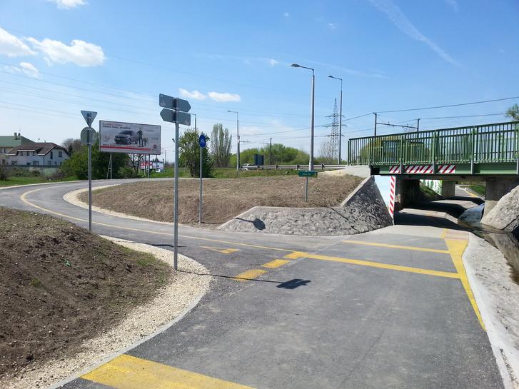 A két éve átadott szinteltolásos bringaútcsomópont