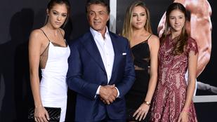 Sylvester Stallone és lányai egyszerűen verhetetlenek