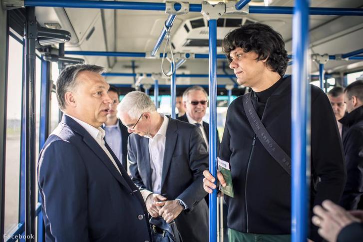 Orbán Viktor és Deutsch Tamás útban Németország felé 2016. április 18-án.