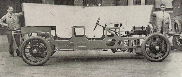 A világ első, sorozatgyártott, teherviselő, önhordó karosszériája 1922-ből a Lancia Lambdánál