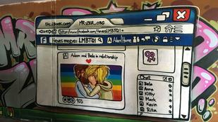 Lett egy merész csókolózós graffiti Egerben