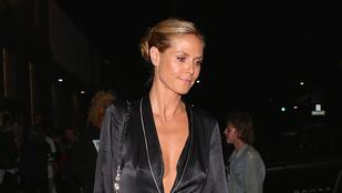 Ez most Heidi Klumon egy pizsama az utcán 0ddffc7211