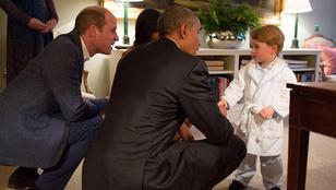 A Barack Obamát pizsamában üdvözlő György hercegtől biztosan elolvad