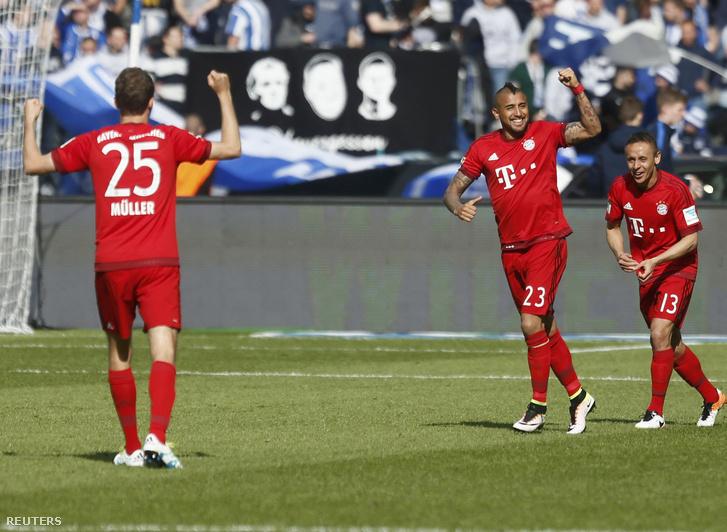 Arutro Vidal gólöröme az első müncheni gól után.