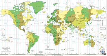 A világ időzónái (forrás: Wikipedia)