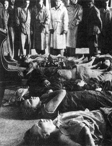 A mosonmagyaróvári sortűz halálos áldozatai.